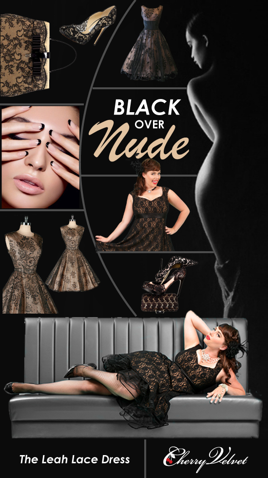 Cherry Velvet's inspirational Black over Nude story board