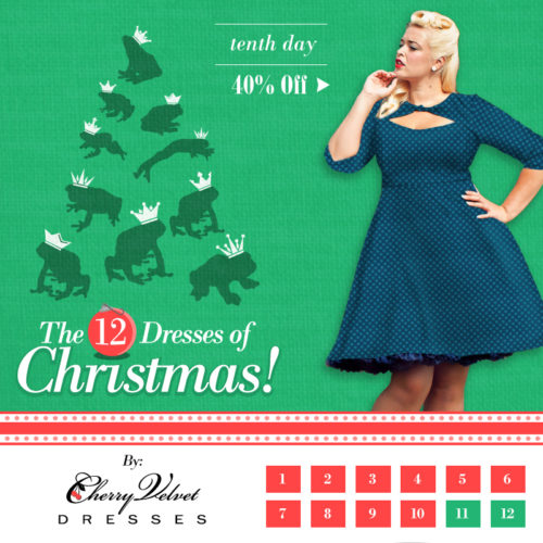 The Twelve Dresses of Christmas - #9 - Daphne Dress in Teal Dot
