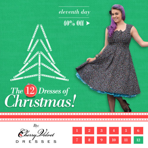 The Twelve Dresses of Christmas - #11 - Kate Dress in Pin Scatter