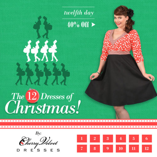 The Twelve Dresses of Christmas - #12 - Priscilla Dress in Red Dice