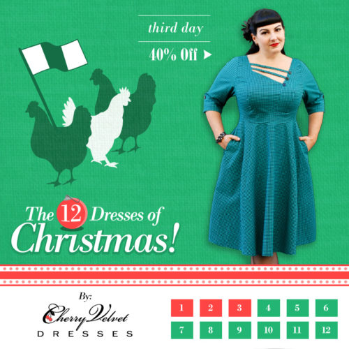 The 12 Dresses of Christmas - Shelly Dress in Jade Houndstooth