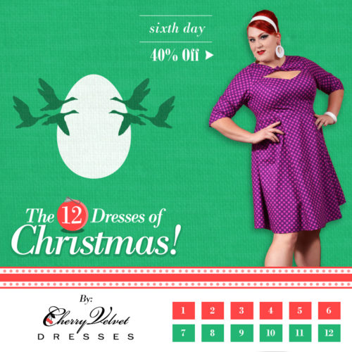 The Twelve Days of Christmas - # 6 Daphne Dress in Plum Dot