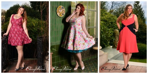 Cherry Velvet Spring Collage - Not just for Pin-up Girls