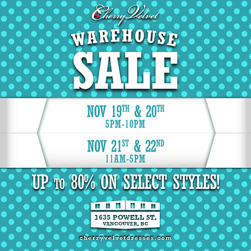 Cherry Velvet Warehouse Sale