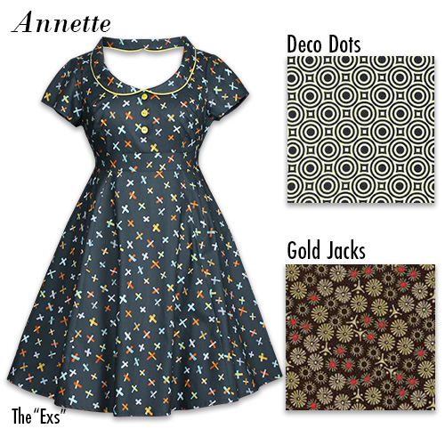 The 'New' Annette Dress with available prints
