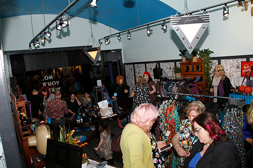 Cherry Velvet and Fluevog put on a charity event to benefit Mom2Mom