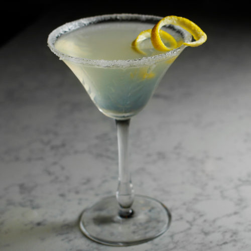 Stop in at Odd Society Spirits for happy hour and this yummy Lemon Drop Martini