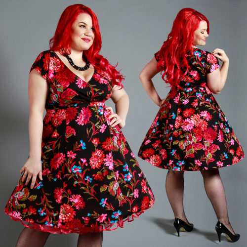Cherry Velvet dresses are made from beautiful 100% cotton fabric in prints like these from FreeSpirit